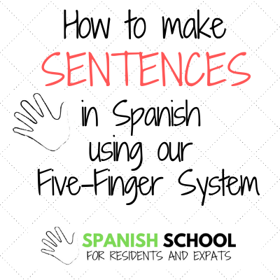 Learn Spanish using our five-finger system